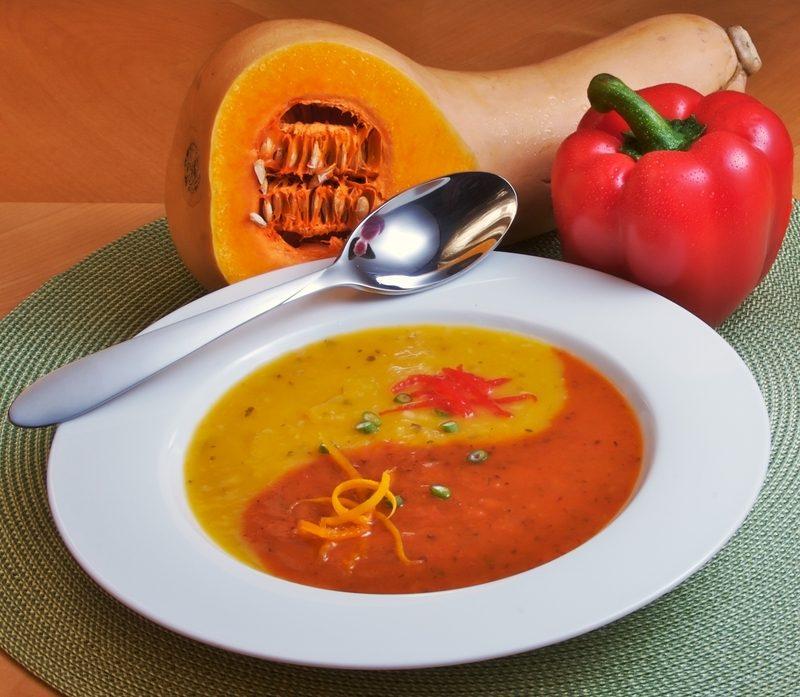 winter squash soup Winter Squash Soup dreamstime 2164168 yin yang soup 1 800x697
